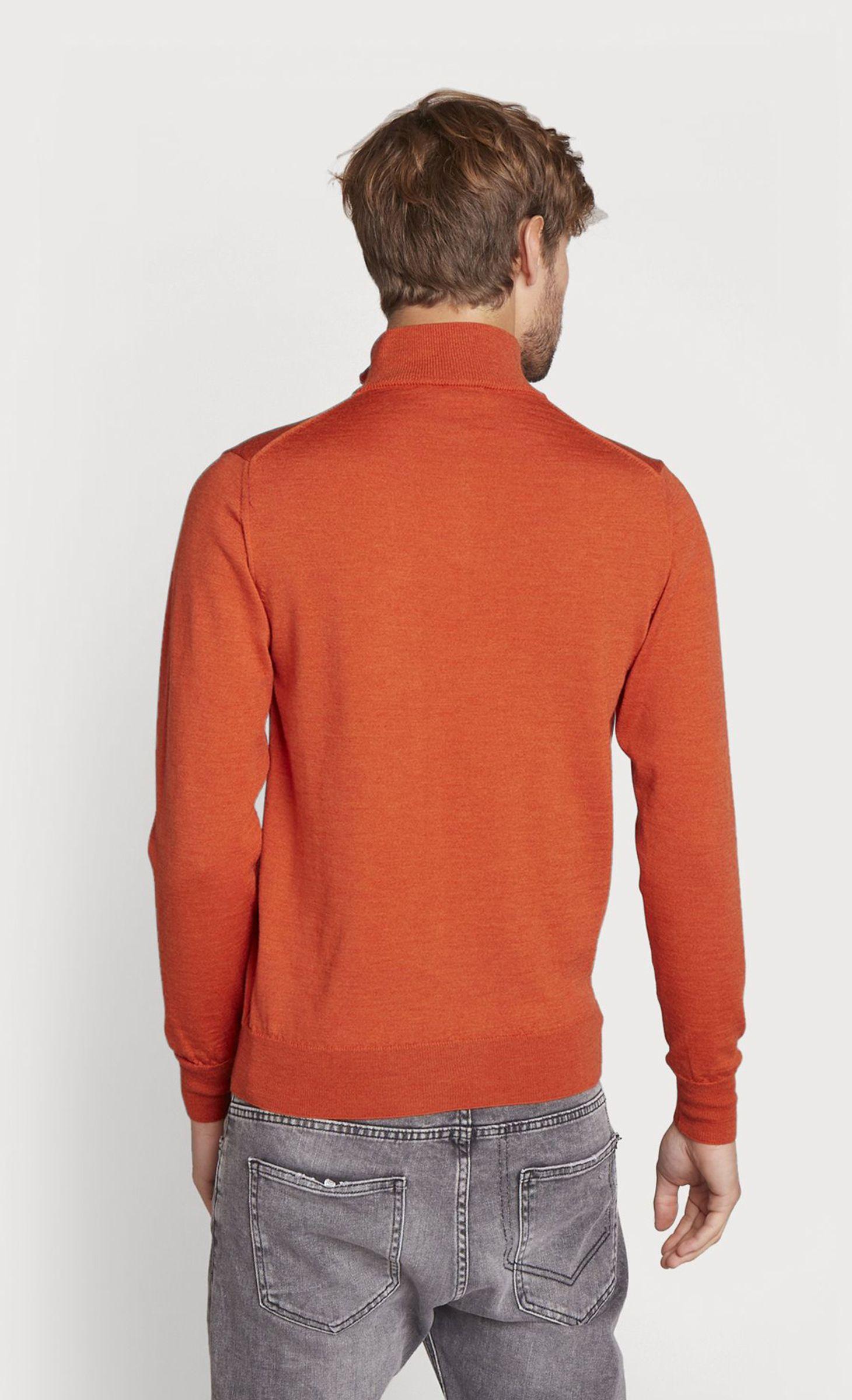 gamme complète d'articles mode designer Acheter Authentic Pull col montant zippé en laine mérinos orange