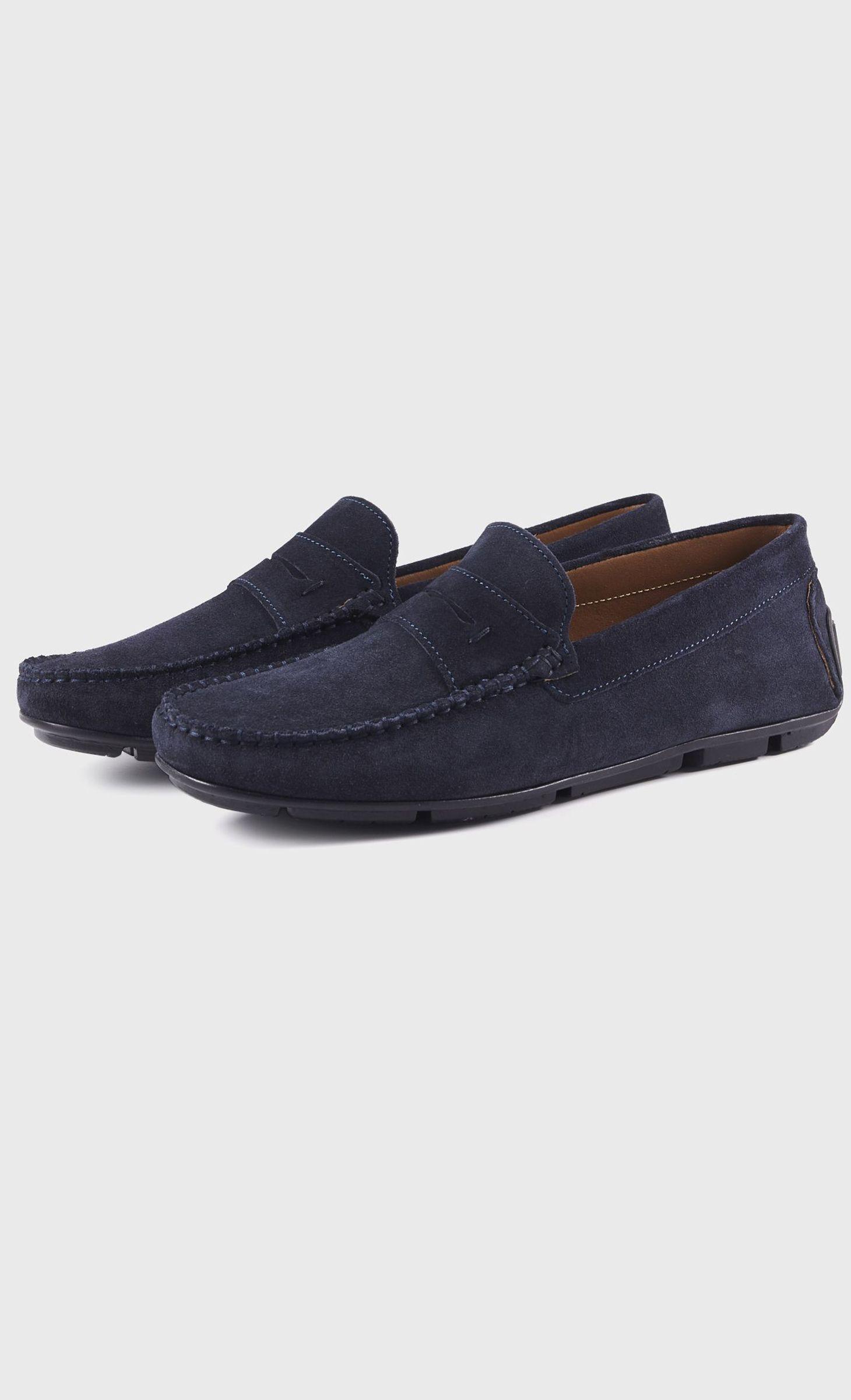 divers styles haute couture chaussures décontractées Mocassin en nubuck bleu marine