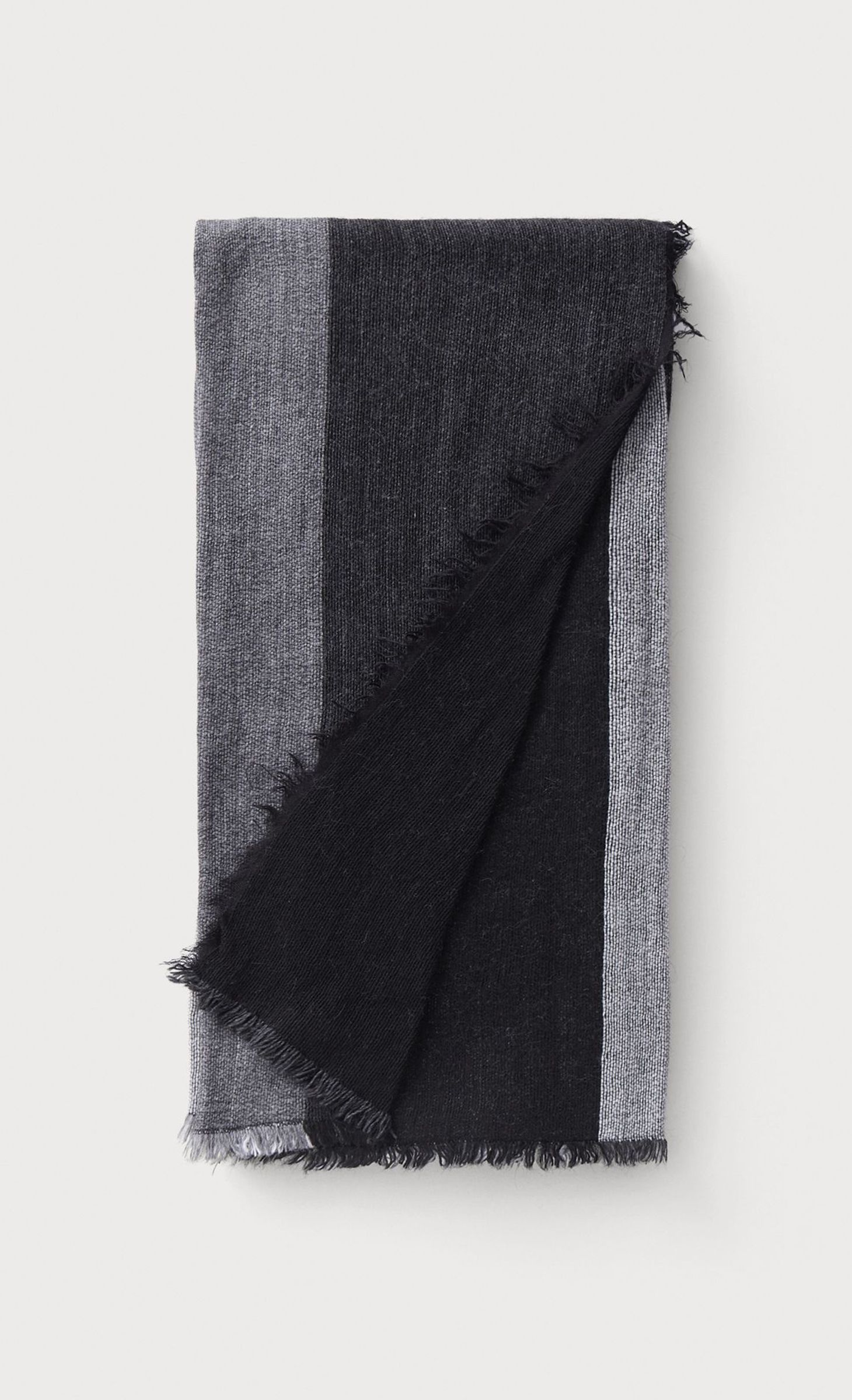 offrir des rabais homme styles frais Écharpe gris foncé à grands carreaux rectangulaires